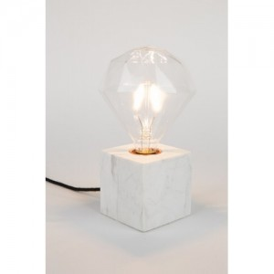 Lampe de table Bolch marbre blanc