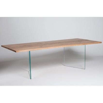 Free tafel met houten blad