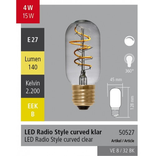Ampoule LED Radio Curved