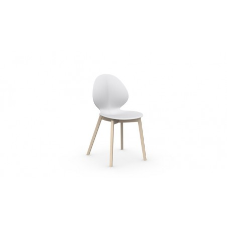 Chaise Basil wood de Calligaris