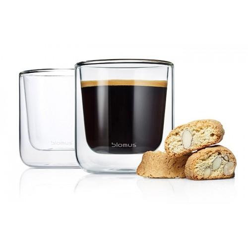 Set van 2 dubbelwandige glazen 'Nero' Café