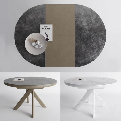 Ronde Verlengbare Eettafel.Tivoli Keramische Tafel Van Calligaris