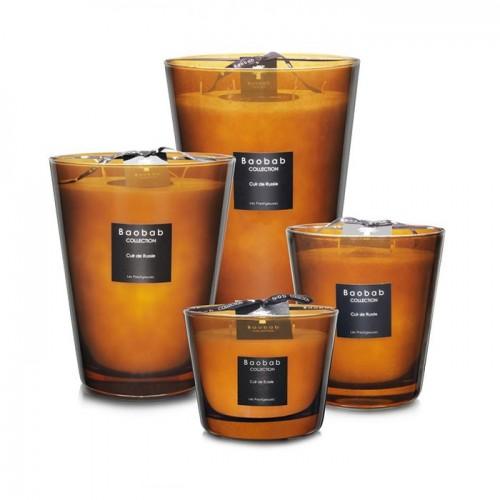 Bougies parfumées Baobab Cuir de Russie