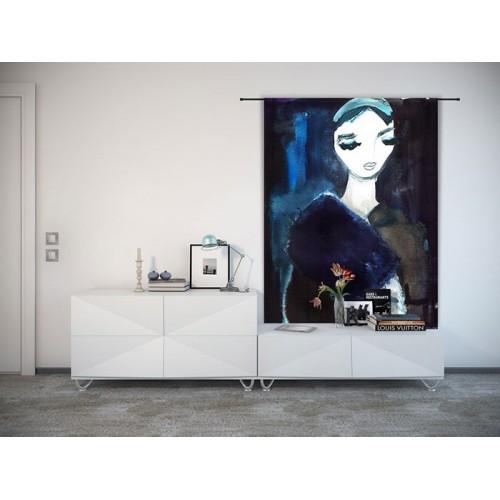 Toile murale Lady in Blue