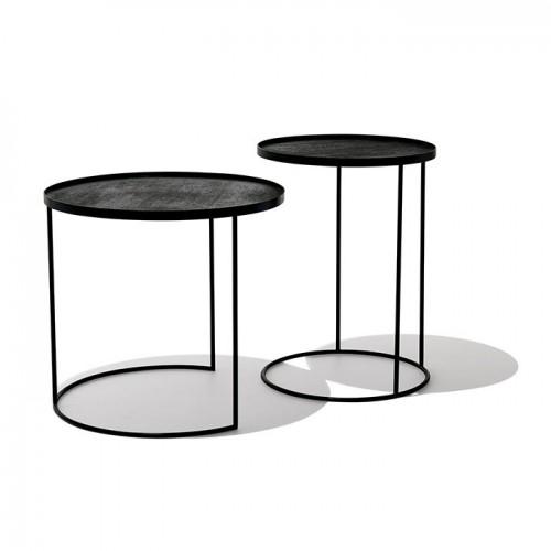 Set de 2 tables Notre Monde Ø 49/62 cm