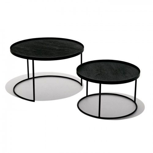 Set de 2 tables Notre Monde Ø 62/93 cm