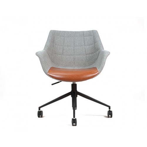 Vintage Design Bureaustoel.Grijze Doulton Bureaustoel Met Accenten In Vintage Bruin Depot