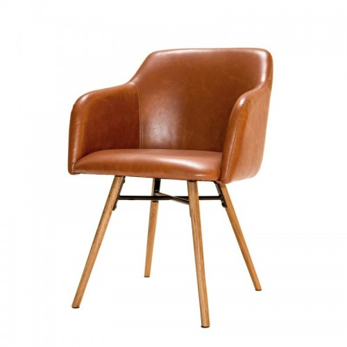 Chaise May cognac
