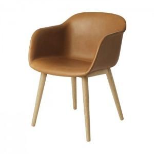 Muuto Fiber Wood Upholstered armchair