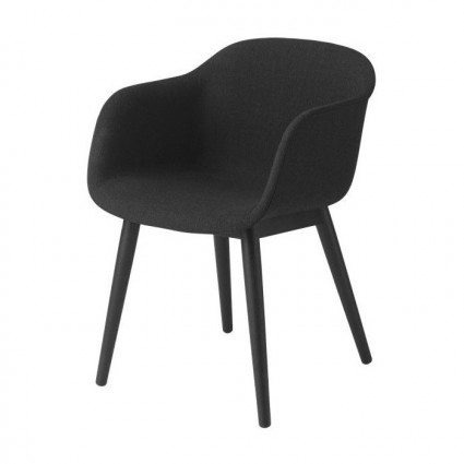 Muuto Fiber Wood Upholstered armchair
