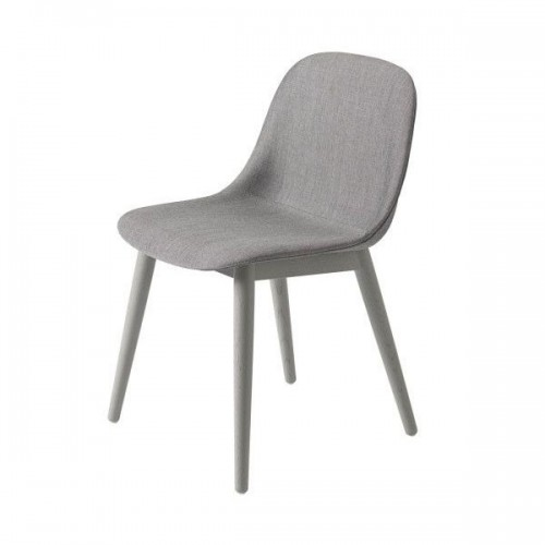 Muuto Fiber Wood Upholstered side chair