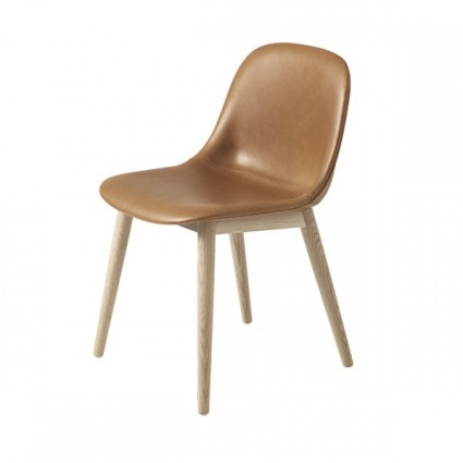 Muuto Fiber Wood Upholstered side chair