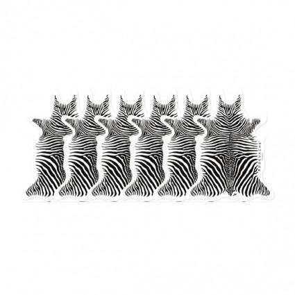 Pôdevache Zebra onderzetters (x6)