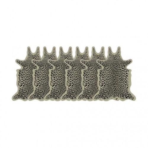 Pôdevache Leopard onderzetters (x6)