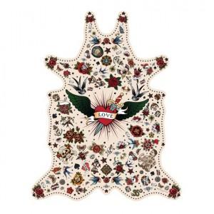 Pôdevache TA002 Tattoo vinyl tapijt