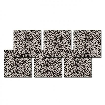 Pôdevache Leopard Rectangle onderzetters (x6)